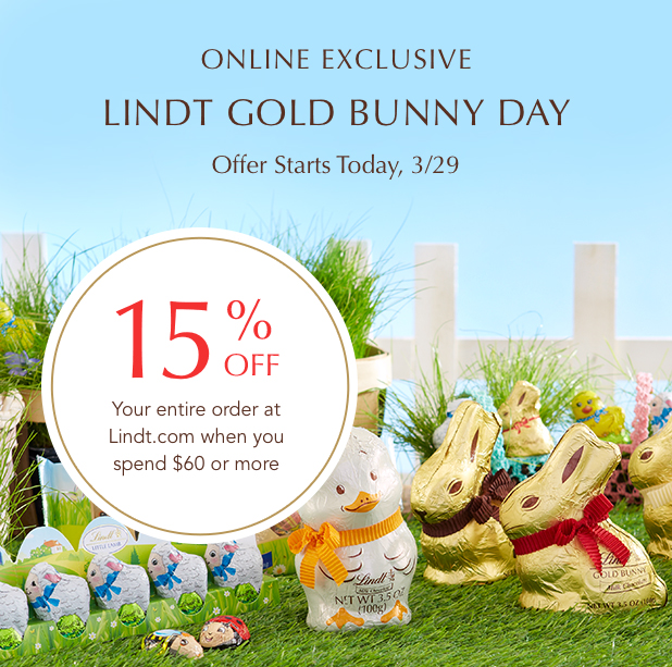 Online exclusive Offer, 15% off your order.