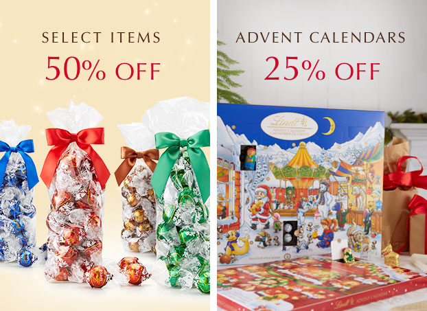 Select Items 50% Off. Advent Calendars 25% Off