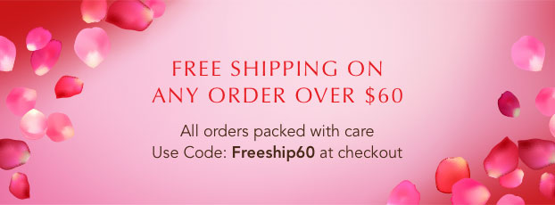 Free shipping on any order over $60