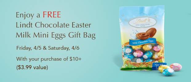 FREE Lindt Mini Eggs Gift Bag