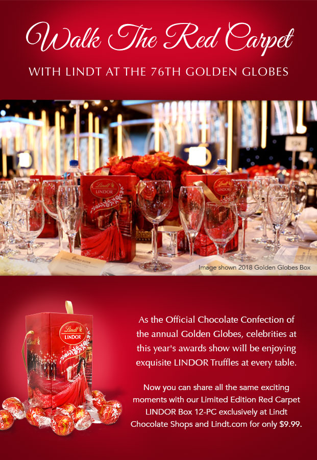 Walk The Red Carpet with Lindt at the Golden Globes