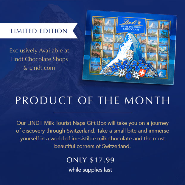 Product of the Month LINDT Milk Tourist Naps Gift Box