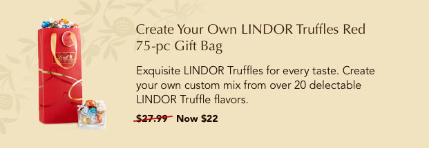 Create your own LINDOR truffles red 75-pc gift bag.