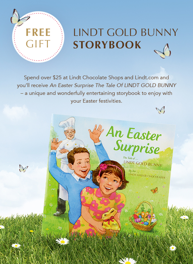 Free Gift LINDT GOLD BUNNY Storybook