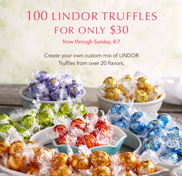 100 LINDOR Truffles for only $30