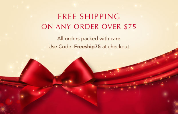 Free shipping on any order over $75.