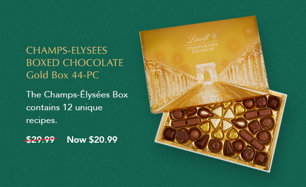 Champs-Elysees Boxed Chocolate Gold Box