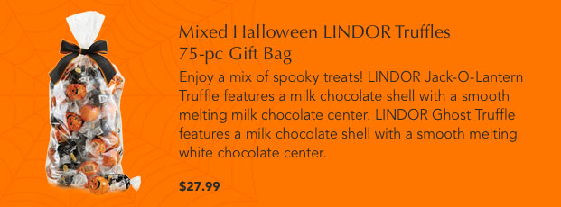 Mixed Halloween LINDOR Truffles 75-pc Gift Bag
