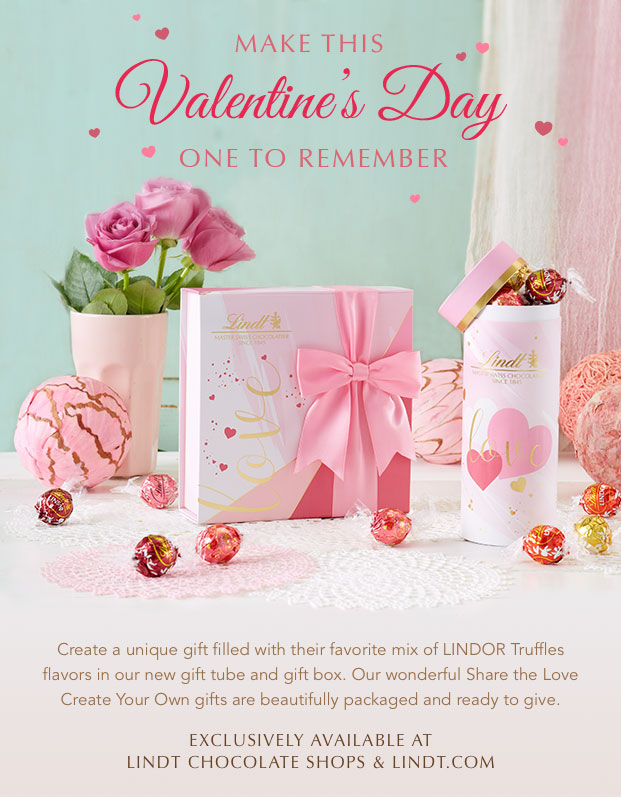 Gifts from the heart, available from LINDT