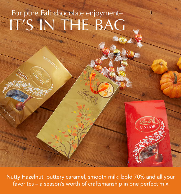 For pure Fall chocolate enjoyment IT'S IN THE BAG