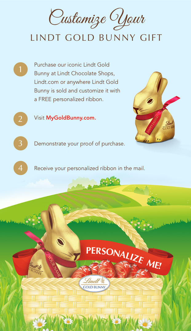 Customize Your LINDT GOLD BUNNY Gift