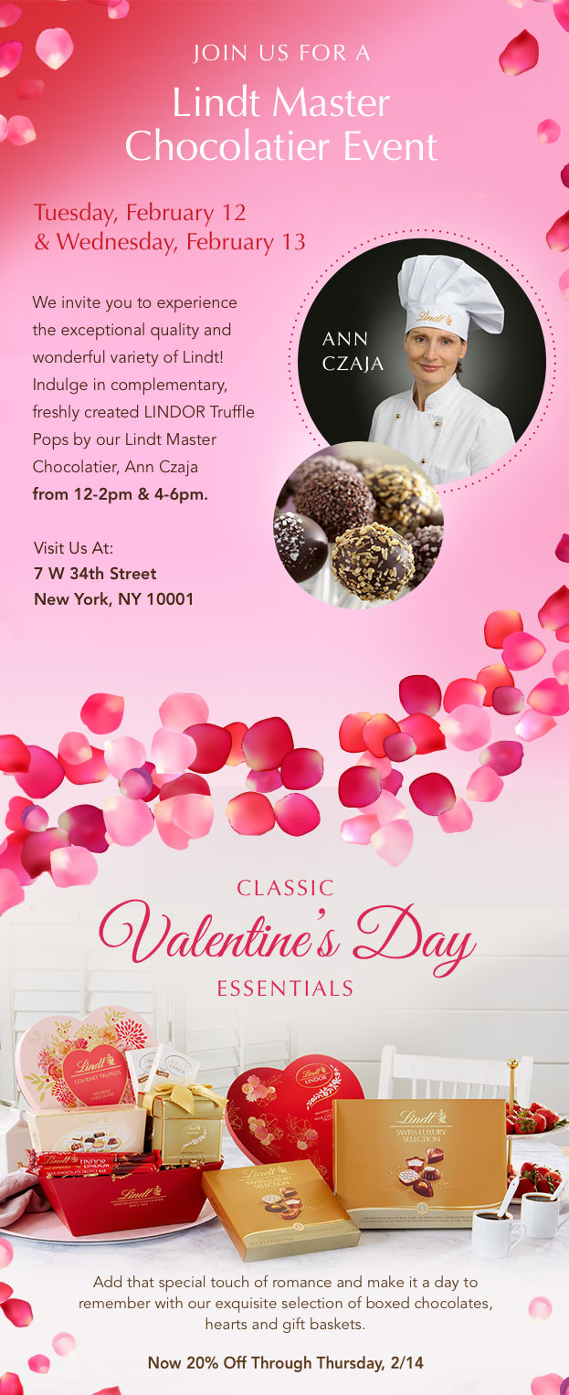 Join us for a LINDT Master Chocolatier Event