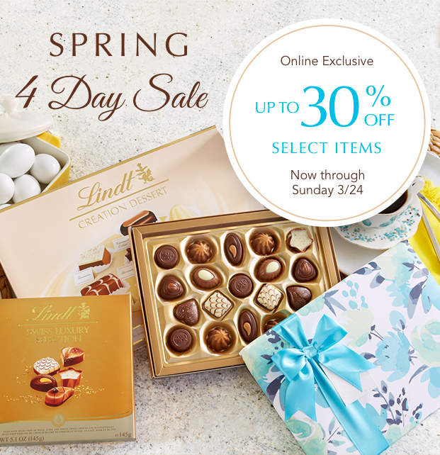 Spring 4 Day Sale Up To 30% Off