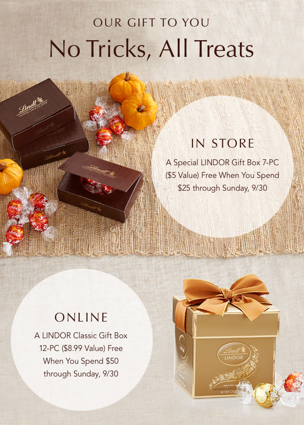 Our gift to you - No Tricks, All Treats