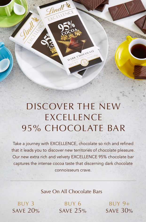 Discover The New Excellence 95% Chocolate Bar