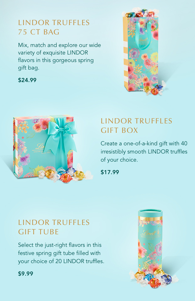 Create a unique gift filled with LINDOR Truffles